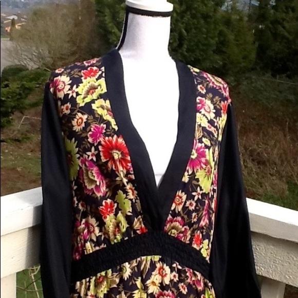 Johnny Was Dresses Silk Floral Plus Size Dress Poshmark